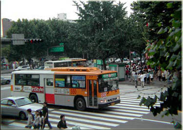 Buses in South Korea - Teaching English in Taiwan