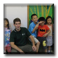 ESL Teacher Peter with his students