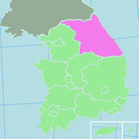 Gangwon Province Map - ESL Abroad