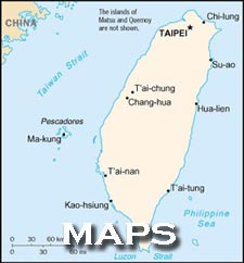 Map of Taiwan - Teaching English in Taiwan