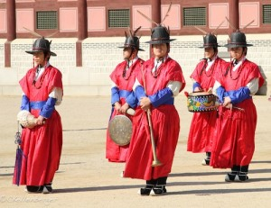 Seoul - Changing of the Guards at Geombuk Palace