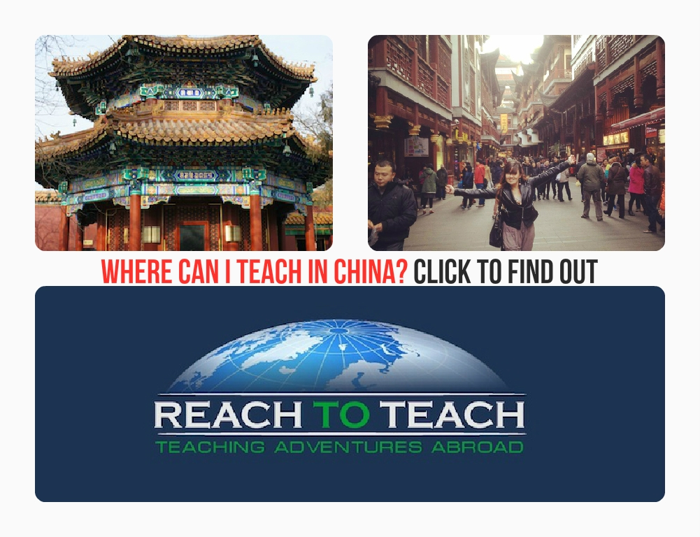 Where Can I Teach in China?