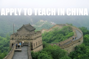 Apply to Teach in China