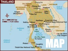 Thailand Country Guide - Map