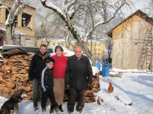 A teacher with his host family in Georgia.