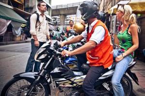 Motosai Taxi Drivers in Bangkok