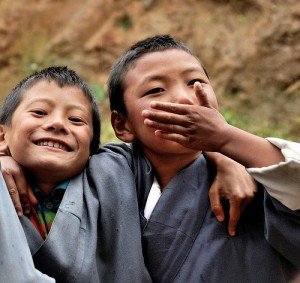 Happy Children in Bhutan