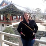 Caroline Hosey at a Temple