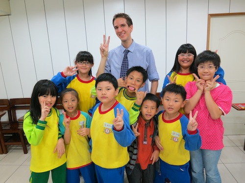 M. Pizzini - A Reach To Teach teacher in Taiwan with his students