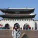 Tiffany Molyneux with a Korean temple