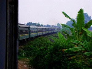 train view in Vietnam