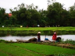 Cambodia boat men