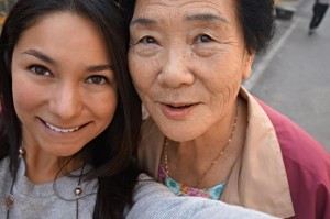 Judith Villarreal and Korean woman