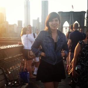 Andie on bridge