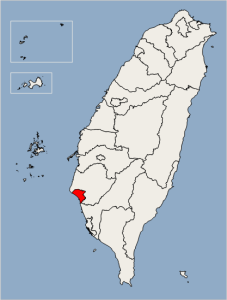 Tainan Location Map