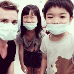 teacher and students in masks