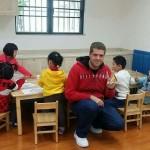 Stefanus Hanekom with his class