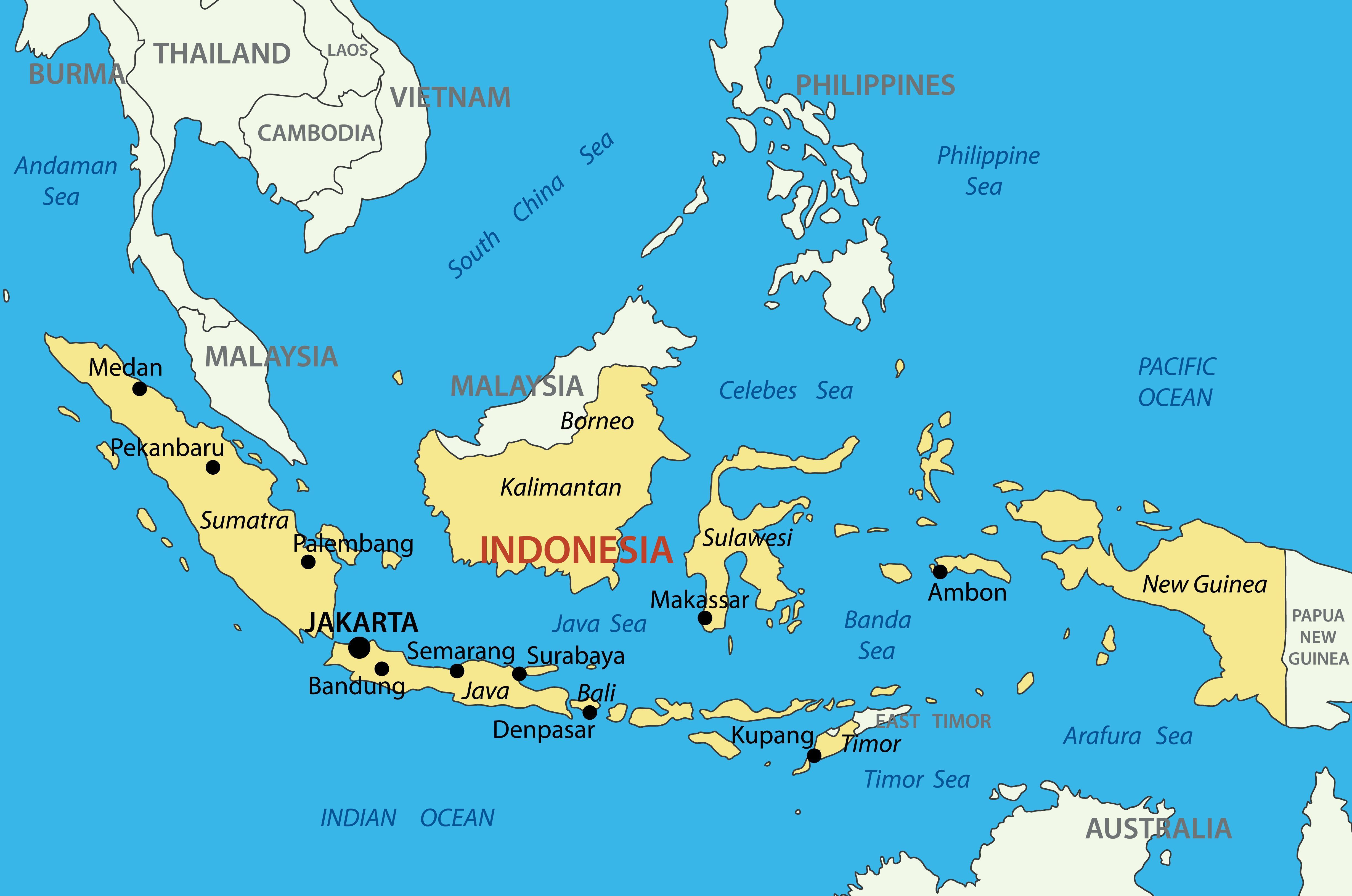 Indonesia Map - Reach to Teach on arabia map, far east map, nigeria map, drc map, europe map, bali map, new zealand, papua new guinea map, israel map, irian jaya map, south korea, japan map, tunisia map, sumatra map, china map, the balkans map, mexico map, poland map, asia map, haiti map, latin america map, sri lanka map,