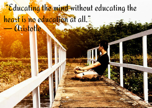 Educating the mind without education the heart is no education at all. ~ Aristotle